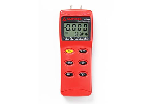 Amprobe MAN15 Differential Pressure Manometer up to 15 psi